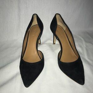 J.Crew Black Suede Leather Heels